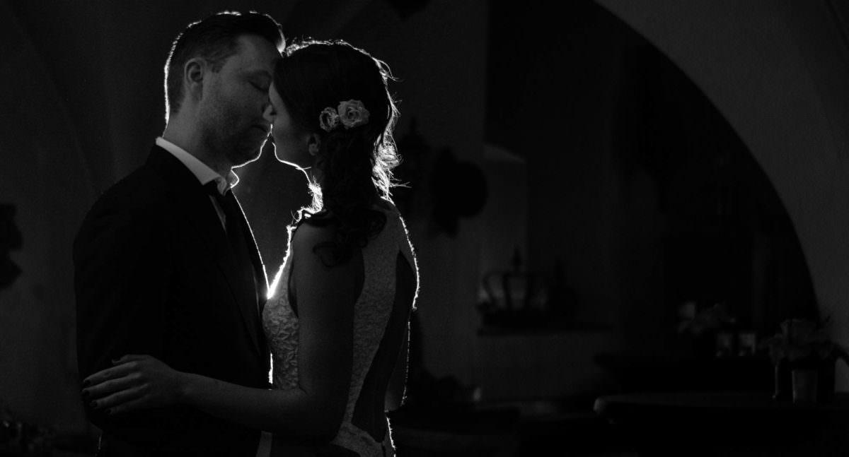 Bruiloft Fotograaf Kissing